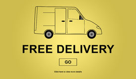 Free delivery concept Royalty Free Stock Photos