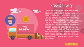 Free Delivery Conceptual Banner Royalty Free Stock Photography