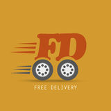 Free delivery design Stock Images