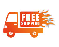 Free delivery design. Free delivery digital design, vector illustration 10 eps graphic Stock Photo