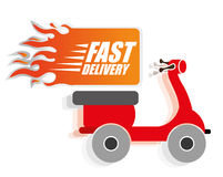 Free delivery design. Free delivery digital design, vector illustration 10 eps graphic Stock Image