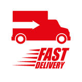 Free delivery design Stock Image