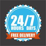 Free delivery design Royalty Free Stock Image