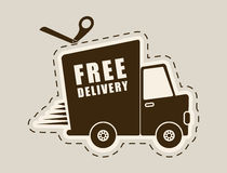 Free delivery design. Stock Photos