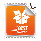 Free delivery design. Royalty Free Stock Photography