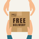Free delivery design. Royalty Free Stock Image