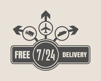 Free delivery emblem design Stock Photos
