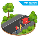 Free delivery, Fast delivery, Home delivery, Free shipping, 24 hour delivery, Delivery Concept, Express Delivery Stock Photo