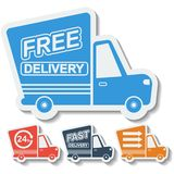 Free delivery, fast delivery icons set. Vector. Stock Photo