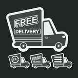 Free delivery, fast delivery icons set. Vector. Royalty Free Stock Images