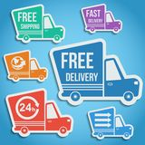 Free delivery, fast delivery icons set. Vector. Stock Images