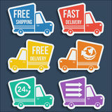 Free delivery, fast delivery icons set. Vector. Stock Photos