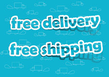 Free delivery and free shipping Stock Photography