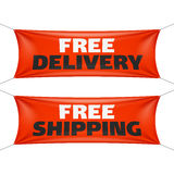 Free delivery and free shipping banners Royalty Free Stock Photography