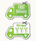 Free delivery, free shipping labels Stock Photo