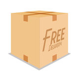 Free Delivery Icon Isolated On White Background Royalty Free Stock Image