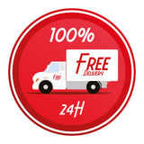 Free Delivery Icon Isolated On White Background Stock Image