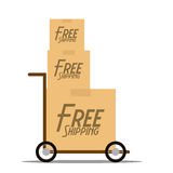 Free Delivery Icon Isolated On White Background Stock Images