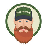 Free delivery icon. Royalty Free Stock Photography