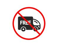 Free delivery icon. Shopping truck sign. Vector vector illustration