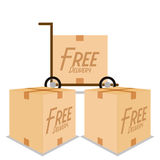 Free Delivery Icons Isolated On White Background Stock Photography