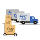 Free Delivery Icons Isolated On White Background Stock Image