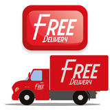 Free Delivery Icons Isolated On White Background Stock Photo