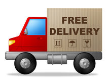 Free Delivery Indicates Moving Truck And Vehicle Royalty Free Stock Image
