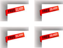 Free Delivery label Stock Photos