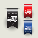 Free delivery labels or ribbons. Vector illustration Royalty Free Stock Image