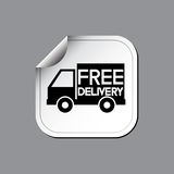 Free delivery labels or stickers. Vector illustration Stock Photo