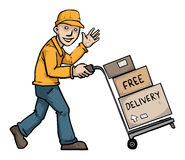 Free delivery Royalty Free Stock Photography
