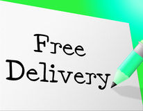 Free Delivery Means With Our Compliments And Complimentary Stock Images