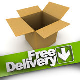 Free delivery, open box Royalty Free Stock Photography