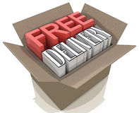 Free delivery package from shipping online internet webshop Royalty Free Stock Photos