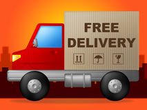 Free Delivery Represents With Our Compliments And Delivering Royalty Free Stock Image