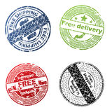 Free delivery seal vector set Royalty Free Stock Images
