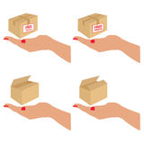 Free delivery and shipping on the box vector Stock Images