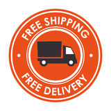Free delivery and shipping Royalty Free Stock Photos