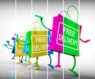 Free Delivery Shopping Bags Show Promotion of no Charge for Ship Royalty Free Stock Photography