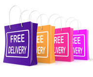 Free Delivery Shopping Bags Showing No Charge Stock Images