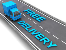 Free delivery sign Royalty Free Stock Photography