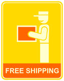 Free delivery - sign, icon Royalty Free Stock Image