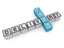 Free delivery sign Stock Image