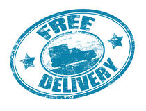 Free delivery stamp Royalty Free Stock Image