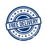 Free delivery stamp Royalty Free Stock Photography