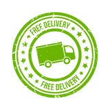 Free delivery stamp Royalty Free Stock Images