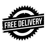Free delivery stamp. Grunge design with dust scratches. Effects can be easily removed for a clean, crisp look. Color is easily changed Stock Photography