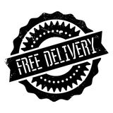 Free delivery stamp. Grunge design with dust scratches. Effects can be easily removed for a clean, crisp look. Color is easily changed Stock Photo
