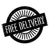 Free delivery stamp. Grunge design with dust scratches. Effects can be easily removed for a clean, crisp look. Color is easily changed Royalty Free Stock Photos